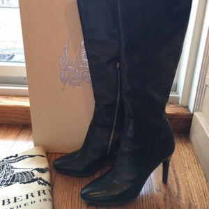 BURBERRY PRORSUM Woman's Boots Leather 39.5 9.5